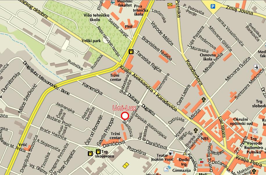 mapa kragujevca sa ulicama Auto servis Uni Lux Kragujevac   .reglazatrapa.  Kontakt mapa kragujevca sa ulicama